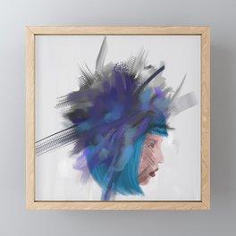 Floating head 1 Framed Mini Art Print