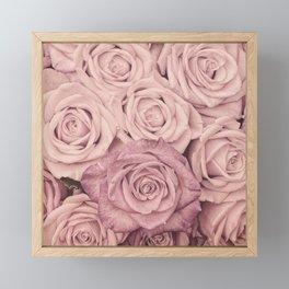 Some People Grumble - Pink Rose Pattern - Roses Framed Mini Art Print