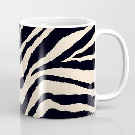 Zebra Animal Print Black and off White Pattern Coffee Mug
