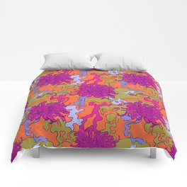 Japan chrysanthemum flower Comforters