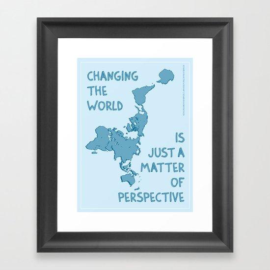 Dymaxion Perspective Framed Art Print