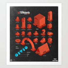 Super Tanklords Directory Vol. 1 Art Print