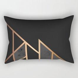 Black & Gold 035 Rectangular Pillow