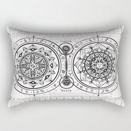 """Cancer """"Water Sign"""" Mandala Zodiac Chart Rectangular Pillow"""