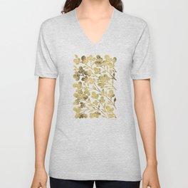 Cherry Blossoms – Gold Palette Unisex V-Neck