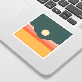 Geometric Landscape 14 Sticker