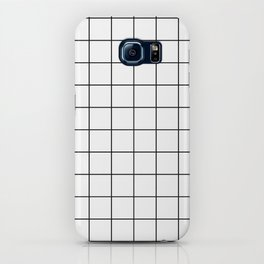 Grid Simple Line White Minimalistic iPhone Case
