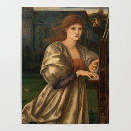 """Edward Burne-Jones """"The Love Song"""" Poster"""