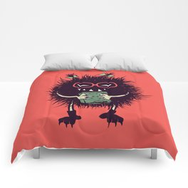 Evil Bug Student Loves To Read Comforters