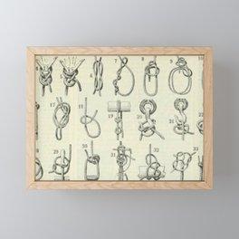 Vintage Knots Chart Framed Mini Art Print
