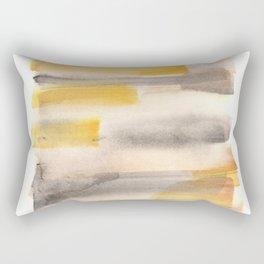 [170105] 11 Color Study Yellow Brown Black|Watercolor Brush Stroke Rectangular Pillow