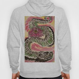 Snake Skeleton & Chrysanthemum Hoody
