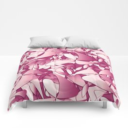 Pattern pink 4 Comforters
