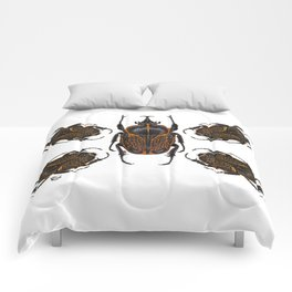 Goliath Flower Beetle Comforters