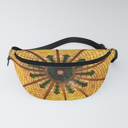Golden Stained Glass Scales Fanny Pack