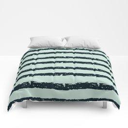 Texture Stripe Deep Blue and Light Cyan Comforters