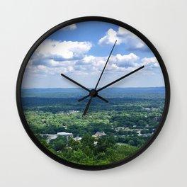 Scenic overlook of Hot Springs Arkansas Wall Clock
