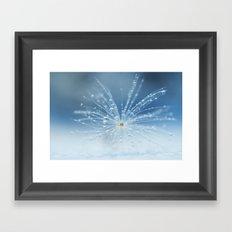 Star of drops Framed Art Print