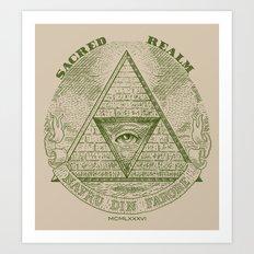 Sacred Realm  Art Print