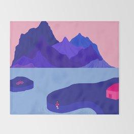 Mountain Hike//Missing Bike Throw Blanket