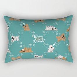 Tummy Rubs Please! (Poodles) Rectangular Pillow