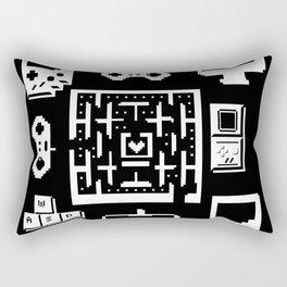Geek Gamer Pattern Rectangular Pillow