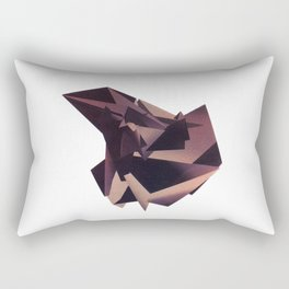 3D purple flying object Rectangular Pillow