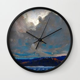 Tom Thomson - Approaching Storm, Dog Point - Canada, Canadian Oil Painting - Group of Seven Wall Clock