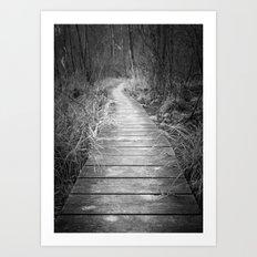 Marsh Boardwalk Art Print