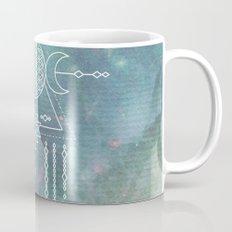 Mandala FLOWER OF LIFE - Turquoise Teal Blue Magical Tribal Galaxy Stars Symbol Mug