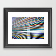 Colored Lines On The Wall Framed Art Print