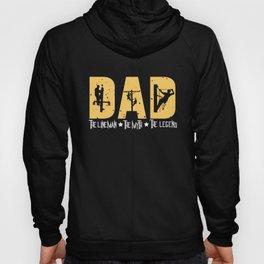 Mens Lineman Dad Gifts| Lineman Dad graphic| Electrician print Hoody