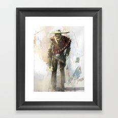 DRUNK WITH A GUN Framed Art Print