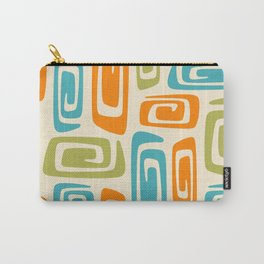 Mid Century Modern Cosmic Abstract 738 Orange Blue and Green Carry-All Pouch
