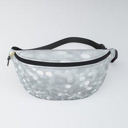 White & Silver Glitter Sparkle Fanny Pack