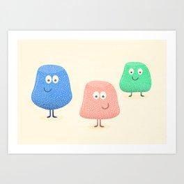 Gum Drops Set  Art Print