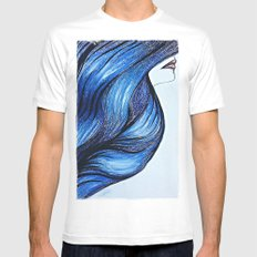 Abstract Hair Mens Fitted Tee MEDIUM White