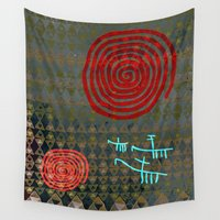 history Wall Tapestries featuring History layers by Menchulica