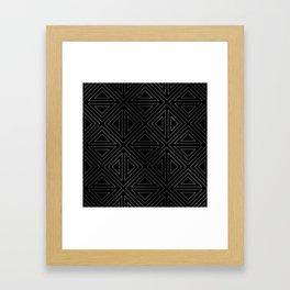 Angled Black & Silver Framed Art Print