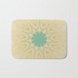 Yellow Teal Sun Mandala Design Badematte