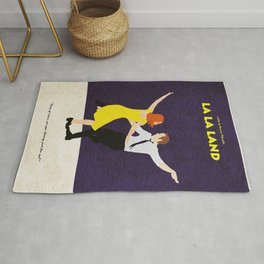 La La Land Alternative Minimalist Film Poster Rug