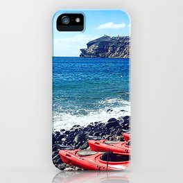Greek Kayaks iPhone Case