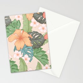 Sweet Pink Blooms Stationery Cards