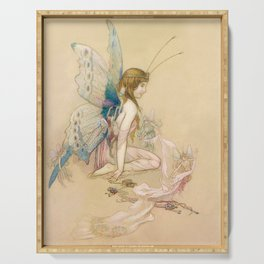"""""""There May Be Fairies"""" Art by Warwick Goble Serving Tray"""