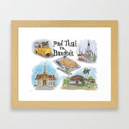 Pad Thai in Bangkok Framed Art Print
