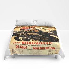 Nurburgring Race, vintage poster Comforters