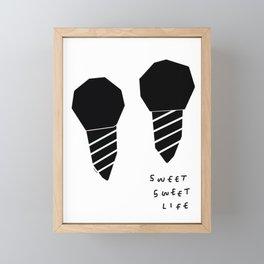 Sweet Ice Cream Couple Love Quote Framed Mini Art Print