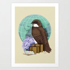 Little World Traveler Art Print