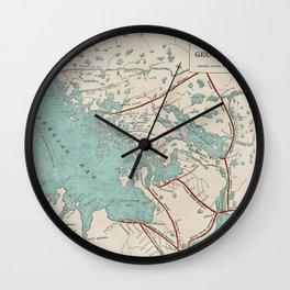 Vintage Map of Georgian Bay Wall Clock