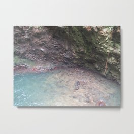 Pebble Cave Costa Rica Metal Print